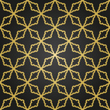 Seamless giolden ornament in arabian style. Geometric abstract background. Pattern for wallpapers and backgrounds - 249460927
