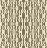 Geometric abstract hexagonal background. Geometric modern golden ornament. Seamless modern pattern - 249461396