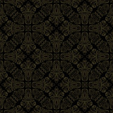Classic seamless pattern. Damask orient black and golden ornament. Classic vintage background - 249462155