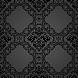 Orient classic pattern. Seamless abstract background with vintage elements. Orient dark background - 249462330