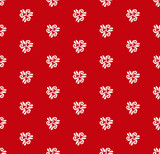 Floral red and white ornament. Seamless abstract classic background with flowers. Pattern with repeating floral elements - 249462504