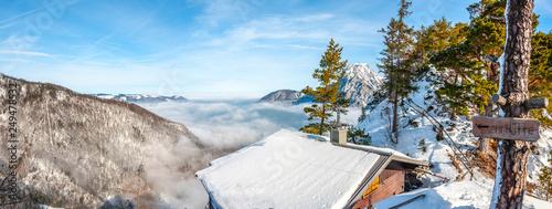 alpine panorama Austria mount Traunstein
