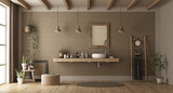 Minimalist bathroom with washbasin