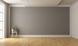 Empty minimalist room with gray wall on background - 249484911