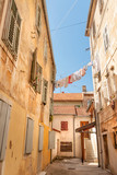 Charming courtyard on the typical street of old town, Zadar, Croatia