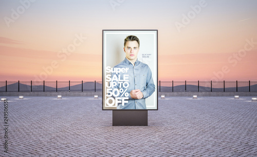 vertical street poster billboard fashion advertising