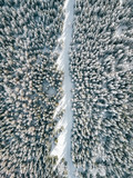 Szczyrk Droga przez Las z powietrza