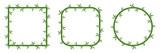 Fototapeta Sypialnia - Bamboo frames with leaves. Vector illustration. © chekman