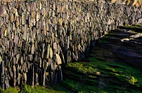 canvas print picture coastal wall - I - Trebarwith - Cornwall