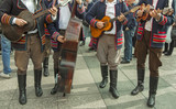 Croatian musicians in traditional Slavonian costumes