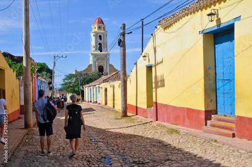 Leinwandbild Motiv Stadtansicht, Straßenszene, Trinidad, Kuba