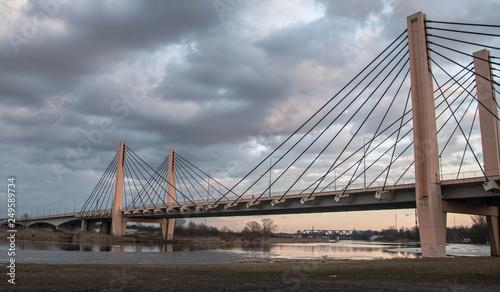 fototapeta na ścianę Most Milenijny Odra Wrocław. Dolnośląskie. Polska. Europa