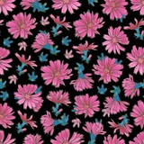Vector flat corn flower seamless pattern backdrop