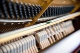 Close Up Detail Shots of a Grand Piano Interior - 249609127