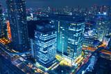 【東京の夜景】世界貿易センタービル展望台から見える汐留ビルディング、汐留芝離宮ビル