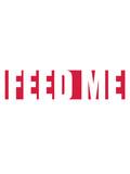 balken text feed me logo design füttere mich lecker hunger noob gamer pro player essen diät koch chef schürze - 249622334