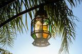 lantern on background of blue sky, photo as background - 249641320