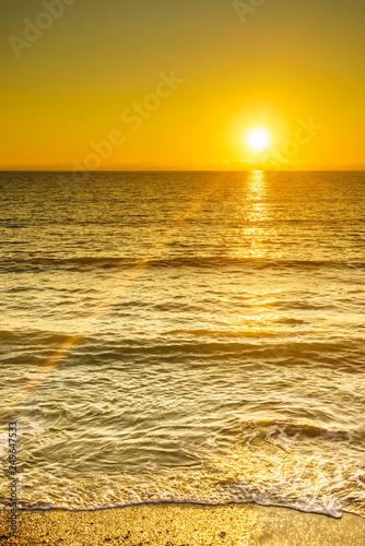 obraz PCV Sunset or sunrise over sea surface