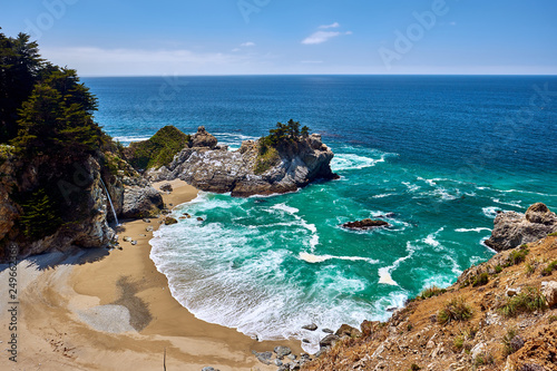 USA Pacific coast beach landscape, California - 249662368