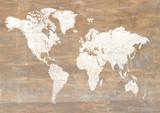 World map brown grunge style