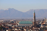 View of Main Monument of Vicenza City in Italy called Palladian
