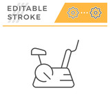 Exercise bike line icon