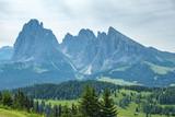 Mountain peaks in a beautiful alpine landscape