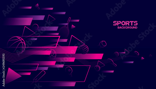 Abstract futuristic background. Vector sport concept - 249695593