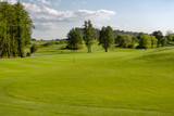 Perfect landscape of golf course in the summer
