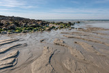 French landscape - Bretagne. A beautiful beach with rocks and view over the sea. - 249700366