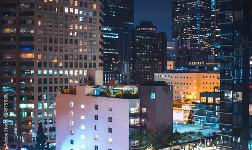 View of Downtown Los Angeles, CA buildings