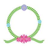 floral wreath flower decoration - 249762397