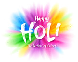 Happy Holi colourful explosion - 249799975