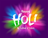 Happy Holi colourful explosion - 249799976