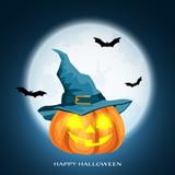Halloween background with Happy Halloween text - 249811900