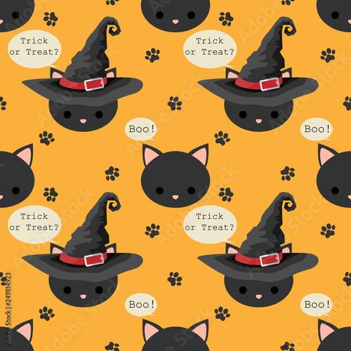 mata magnetyczna Halloween seamless pattern.
