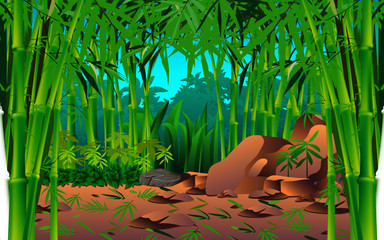 landscape of the bamboo forest © เอกชัย โททับไทย