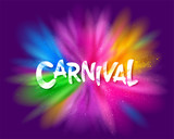 Carnival title with colorful explosion. - 249832587