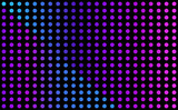 Blue and purple vector background - grid of glowing dots