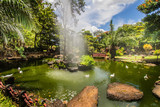 This traditional ande beautiful japanese garden is located in brazilian Caldas Novas City