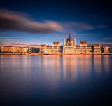 The Hungarian Parliament in sunset - 249868540