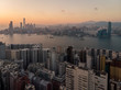 Quadro Sunset over Hong Kong and the Victoria harbor