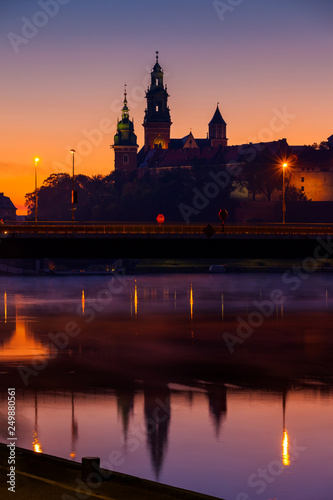 Wawel Castle And Cathedral In Krakow At Dawn