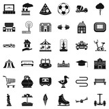 Fototapeta Miasto - Town icons set. Simple style of 36 town vector icons for web isolated on white background © ylivdesign