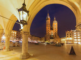Cracow. Old city by night