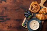 Coffee and croissants breakfast - 249901384