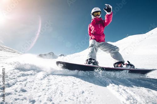 fototapeta na ścianę Snowboarder on .the sloap