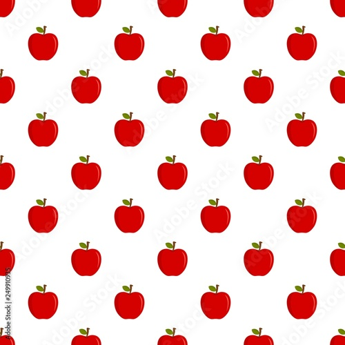 Eco fresh red apple pattern seamless vector repeat for any web design © anatolir