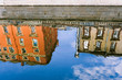 Mirror reflection of architecture. Buildings of St. Petersburg