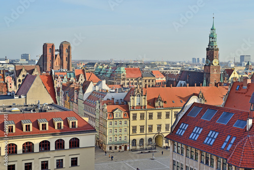 fototapeta na ścianę Rynek we Wrocławiu, Polska